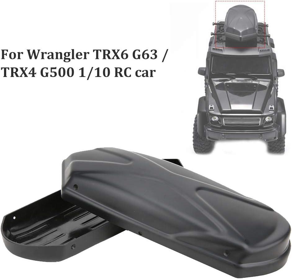 Tbest Bagages de Toit de Voiture RC ABS et Coffre de Bagages de Toit en m/étal Transporteur sup/érieur de Voiture t/él/écommand/é pour Wrangler TRX6 G63//TRX4 G500 1//10 Voiture RC