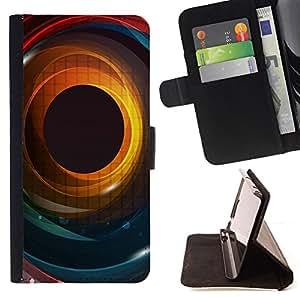 - cool abstract colour iris eye hole spiral - - Prima caja de la PU billetera de cuero con ranuras para tarjetas, efectivo desmontable correa para l Funny HouseFOR LG G3