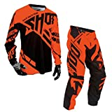 Shot Race Gear - Contact Raceway Neon Orange Jersey/Pant Combo - Size LARGE/30W