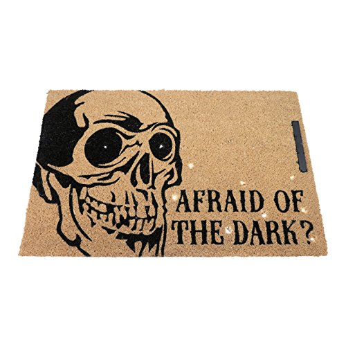 FLOOR | 9 Skeleton 'Afraid of the Dark?' Lighted Halloween (100 Halloween Floors)