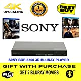 Sony BDP- S6700 3D bluray 4K upscaling player Free 2 Bluray Movies