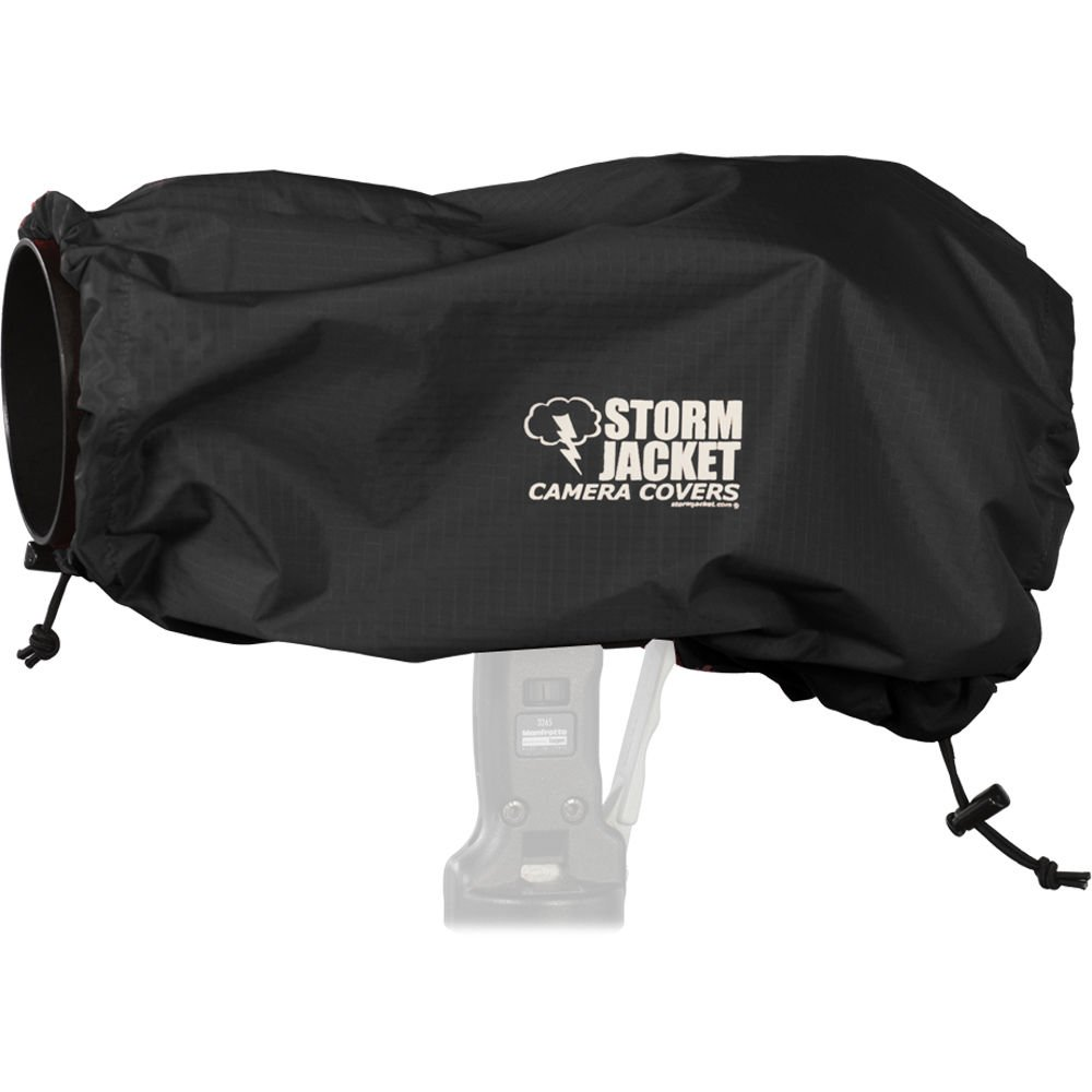 Vortex Media Pro Storm Jacket Cover for an SLR Camera with a Large Lens Measuring 14'' to 23'' from Rear of Body to Front of Lens, Color: Black
