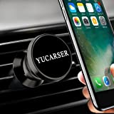 YUCARSER Magnetic Car Phone Mount USB Sorting Function, 360 Rotation Air Vent Cell Phone Holder Car, Compatible iPhone X/8/8Plus/7/7Plus/6s/6Plus/5S/Pixel 2/GalaxyS5/S6/S7/S8