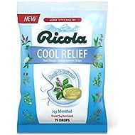 Ricola Cool Relief Cough Suppressant Drops, 19 Drops
