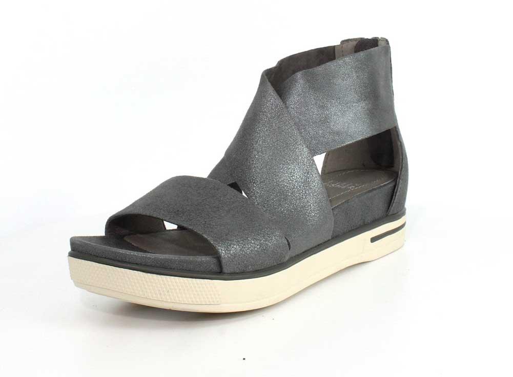 Eileen Fisher Women's Sport Sandal B07525XJK2 7 B(M) US|Silver Metallic Suede