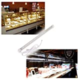 LumenBasic Display Case Lighting LED - 13.9'' Waterproof Light Bar for Fridge Display Case Light for Commercial Counter Top Daylight White 12v 12 volt hard-wired