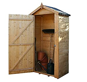 3x2 compact wooden grande garden storage shed single door windowless felt included by waltons