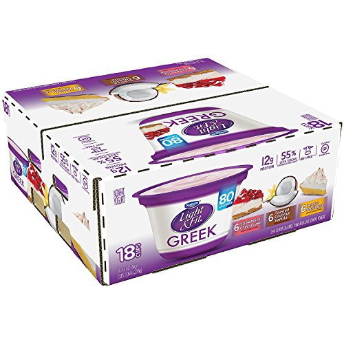 Dannon Light & Fit Greek Blended Nonfat Yogurt Variety Pack (5.3 oz, 18 ct.)