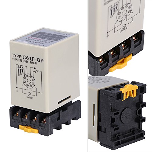 Akozon C61F-GP AC220V 50/60HZ Liquid Floatless Level Switch Controller with Base by Akozon (Image #4)