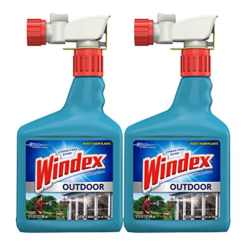 Windex Outdoor Glass and Patio Concentrated Cleaner, 32 Ounce, Pack of 2 (Patio Brick And Cleaner)