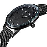 Men's Brand Watches Simple Ultra Thin Dial Analog Display Quartz Mesh Band Wrist watch CJ-2117B