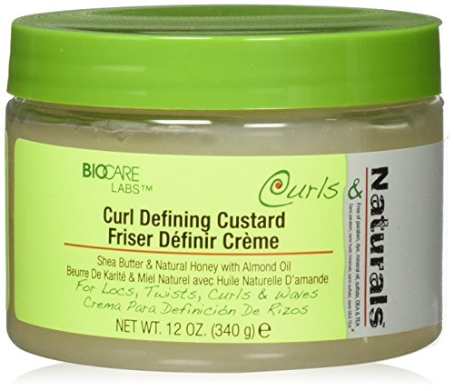 BioCare Labs Curl Defining Custard- Styling Gel W/ Shea Butter, Natural Honey, and Almond Oil - Smooths and Moisturizes Hair - Curl Enhancer For Defined Styles - Hair Styling Cream from Curls & Naturals