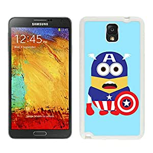 Personalized Design Samsung Note 3 Despicable Me with Captain America 42 Cell Phone Cover Case for Galaxy Note3 III N900 N9005 White