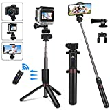 Bluetooth Selfie Stick, PEYOU Extendable Selfie Stick with Tripod Stand and Wireless Remote Compatible for iPhone Xs Max XR X 8 7 6 6S Plus,for Galaxy Note 9 8 S10 S9 S8 Plus