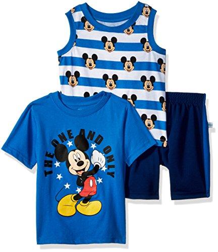 Disney Baby Boys Mickey 3 Piece Short Set, Blue - Kids For Clothes Disney