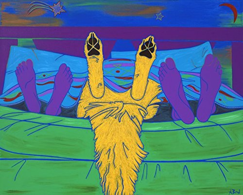 Bad Romance - Humorous Dog Art - Dog Art Print - Golden Retriever Art - by Angela Bond (Humorous Wall Art)