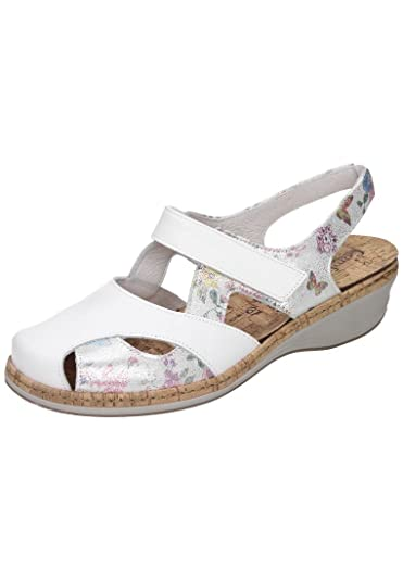 Comfortabel Damen-Sandale Weiß 710890-3, Grösse 37