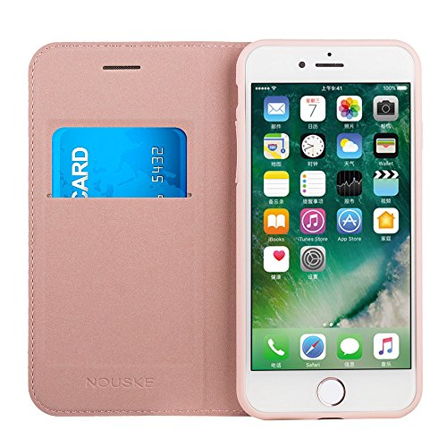 Nouske Funda tipo cartera para iPhone 7 Plus iPhone 8 Plus de 5,5 pulgadas de Apple, Oro rosa: Amazon.es: Electrónica