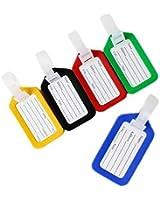 BlueCosto® 7 Color Luggage Striped Bag Tags Label Travel Name Address Tourist 230041