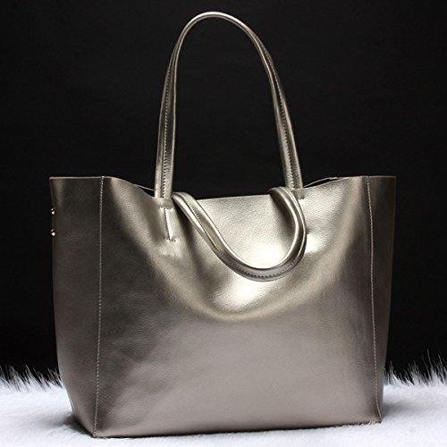 Temperamental Grande Bolsa silver Elegant Bolso Bronce GUANGMING77 Bolsa HwPdWqTxX