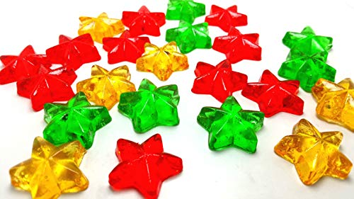 50 CHRISTMAS CANDY STARS - Stocking Stuffers, Hard Candy