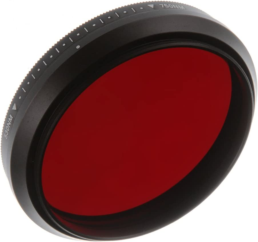 Runshuangyu 49MM Optical Glass Circular Infrared X-Ray Adjustable IR Pass Filter Variable from 530nm to 750nm 590nm 680nm 720nm for DSLR Camera Photography