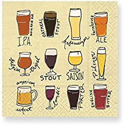 Design Design Choose Your Brew Cocktail Napkins, Multicolor
