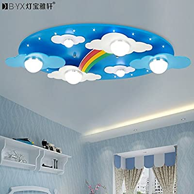 BL Modern European style Warm clouds Rainbow children's rooms lighting light LED ceiling lamp for boys and girls bedroom lamp cartoon 730*400*120mm,Ceiling Lamp (110-120V)