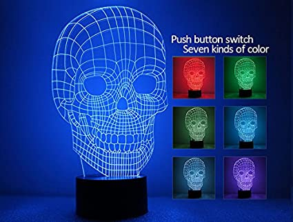 CTLAMP 3D Optical Illusion Building Night Light 7 Colors Change Touch Switch Table Deak Lamp LED