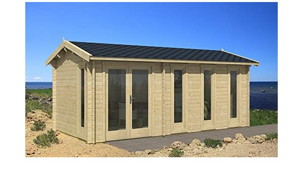 Jardín Casa Nice de 40 Casa de vacaciones bloque madera casa 300 x ...