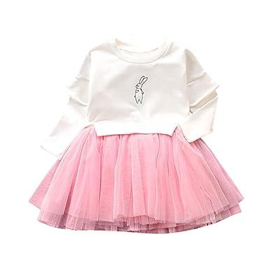 c00f19efe5159 DAY8 Fille 1 à 5 Ans Vetement Robe De Princesse Fille Dentelle Chic ...