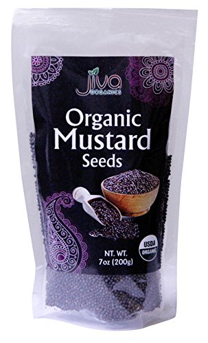 Jiva USDA Organic Mustard Seeds Black 7 Ounce - Nearly 1/2 Pound