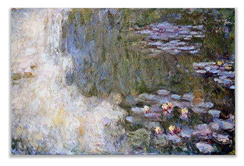 Monet Wall Art Collection Water Lily Pond, 1917 by Claude Monet Canvas Prints Wrapped Gallery Wall Art | Stretched and Framed Ready to Hang 30X40, ()
