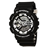 Casio G-Shock Black Dial Resin Quartz Men's Watch GA110BW-1A