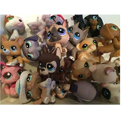 Littlest Pet Shop LPS Grab Bag of 3 Pets w 1 RARE DOG Corgi, Daschund or Collie! from Unbranded