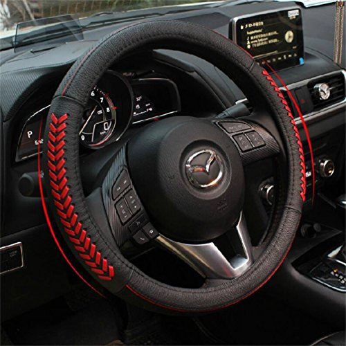 Vesul Red Steering Wheel Glove Leather Cover For Mazda 3 Axela Mazda 6 CX 5  CX5 2013 2014 2015 2016