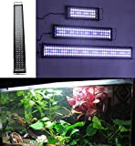 tank hood 40 - Zeiger Eco Aquarium Hood Led Lighting Fish Lamp Freshwater and Saltwater decorations Light, White and Blue Adjustable 16 inch - 24 inch (5730 LED 11 W) A069