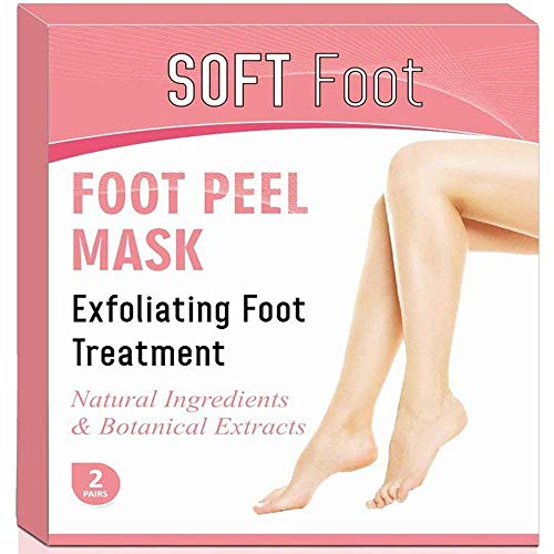 Exfoliating Foot Peel Mask for Baby Soft Feet | 2 Pairs Natural Lavender Scented Booties Make Great Addition to a Pedicure Kit | This Foot Care Repair Treatment is a Gentle Dead Skin & Callus Remover.