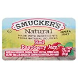 Smucker's Natural Red Raspberry Jam, 0.5 Ounce (Pack of 200)