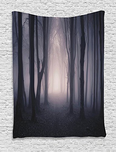Scary Halloween Pumpkins Witch Spooky Forest Haunted Castle Graveyard Spider Web Cat Bats Ghost Tapestry Wall Hanging Halloween Decor Tapestry For Party Decoration Bedroom Living Room Home Wall Decor