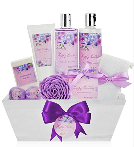 - Birthday Gift Basket Spa Kit - Spa Basket Bath & Body Birthday Basket Gift Set is the #1 Women Birthday Gift for Wife, Mom & Friends! Spa Gift Basket #1 Best Birthday Gift Baskets for Women!