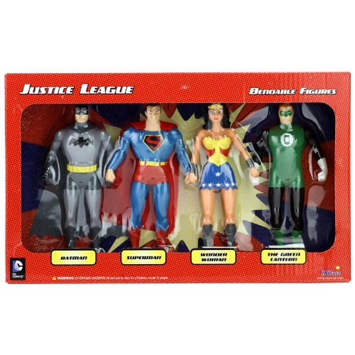 [Super Hero Set Justice League Boxed 5 inch Hero Series Action Figures Toys, 4 Pack] (Female Superheroes And Villains)