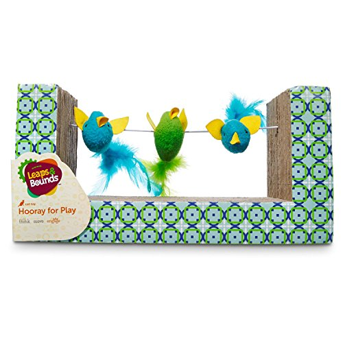 Leaps & Bounds Birds on a Wire Cat Scratcher, 11.5 in, Multi-Color
