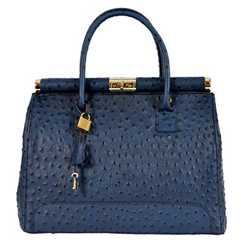 GIADA Sac Porté Main Épaule Femme Shopper Vrai Cuir Fabriqué en Italie Qualité