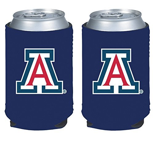 NCAA College 2014 Team Logo Color Can Kaddy Holder Cooler 2-Pack (Arizona Wildcats)