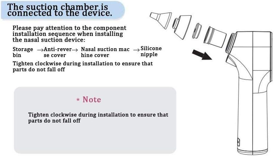 Aspirador Nasal Bebes Electrico Impermeable Aspirador de Nariz con Carga USB con 4 tama/ños Puntas de silicona 3 niveles de succi/ón para Reci/én Nacidos,Ni/ños Peque/ños y Infantil