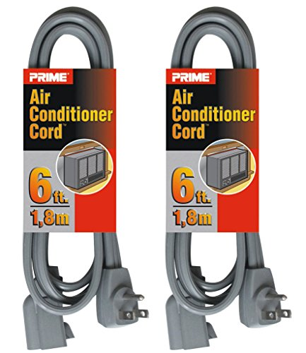 Prime EC680506L Air Conditioner and Major Appliance Extension Cord, Gray, 6-Feet, 2-Pack by Prime