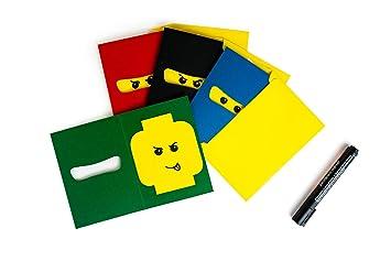 Ipe 12 Ninja Einladungskarten Set Zum Selber Basteln Inkl Umschlage Kinder Geburtstag Jungen 250g Karton Made In Germany