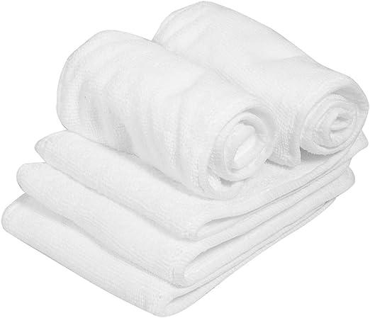 5 piezas de algodón pañal pañal, 2 capas suave y transpirable bebé recién nacido pañal insertar revestimientos pañales: Amazon.es: Hogar