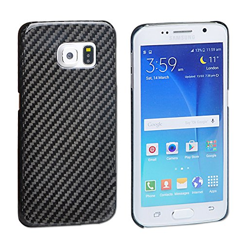 For Samsung S6 Edge Case , T-Carbon Handmade Article Ultra Thin Luxury 100% Genuine Pure Carbon Fiber Case for Samsung Galaxy S6 Edge Cover With Gift …